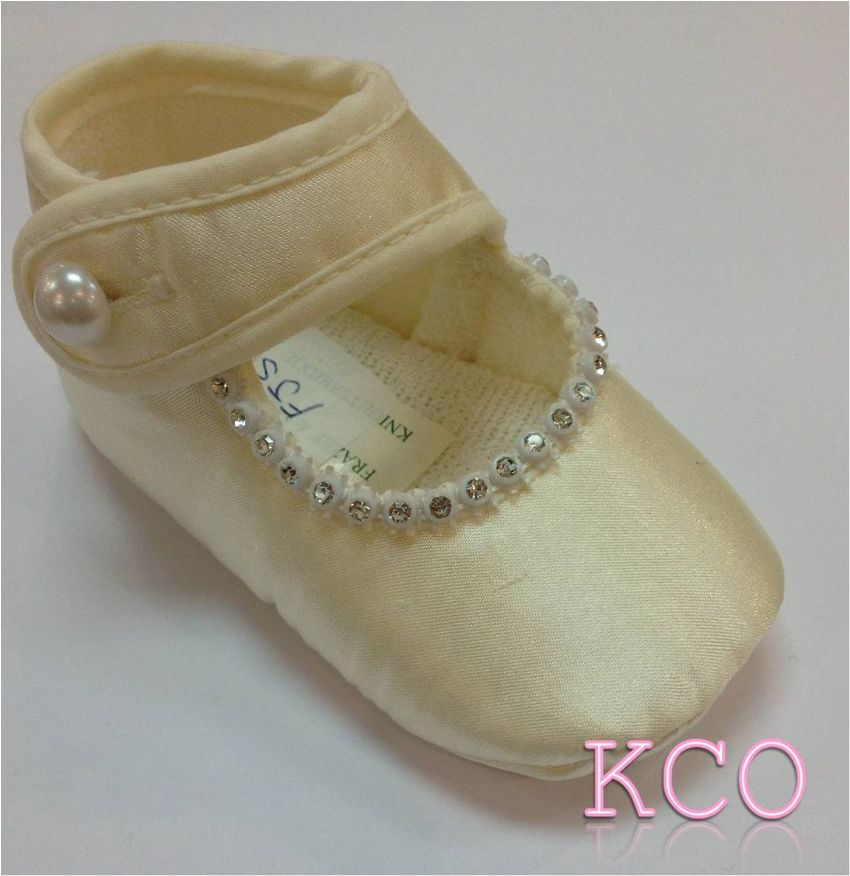 Style FJS005 Ivory~Girls Shoes